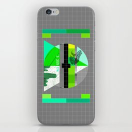 Waiting for the show to begin (Test Pattern 3) iPhone Skin