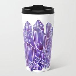 Purple Crystal Cluster Travel Mug