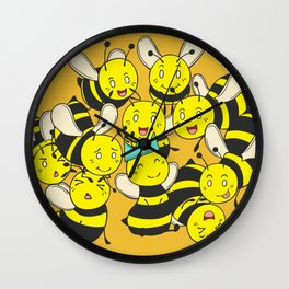 BORN TO BEE QUEEN Wall Clock