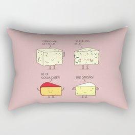 cheesy puns Rectangular Pillow