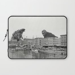 Godzilla and King Kong Rumble in Baltimore Laptop Sleeve