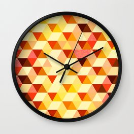 Geometric fire Wall Clock