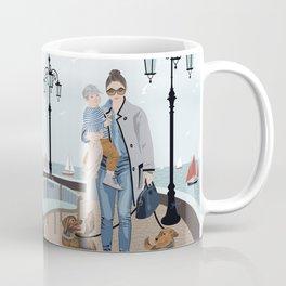 Seaside walk Coffee Mug