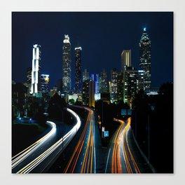 Downtown Atlanta At Night Canvas Print