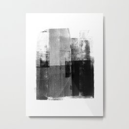 Black and White Minimalist Industrial Abstract Metal Print