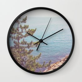 Ocean Beyond the Shore Wall Clock
