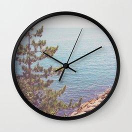 Ocean Beyond the Shore Wall Clock