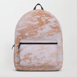 Pastel Lavender Marble Rosegold Glitter Pink Backpack