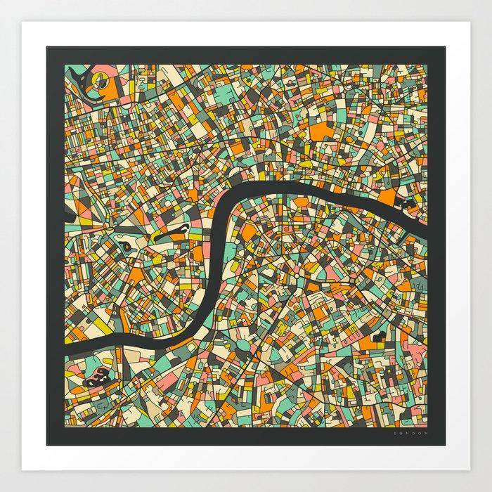 LONDON MAP Kunstdrucke