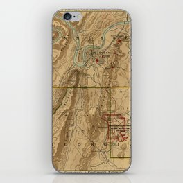 Map Of Chattanooga 1895 iPhone Skin