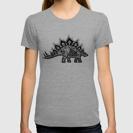 Stegosaurus Lace - Black / Grey - T-shirt