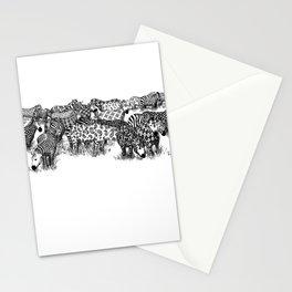 Zebra Print Stationery Cards