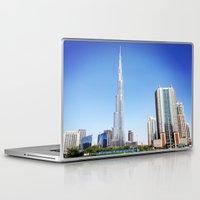 wiz khalifa Laptop & iPad Skins featuring Dubai Burj Khalifa by MyndVu