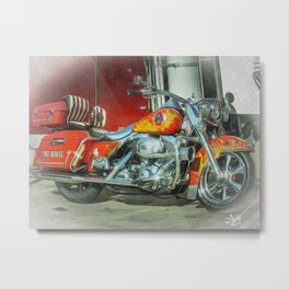 Bike Emergency  Metal Print