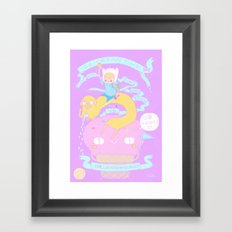 ICE-CREAM TIME with finn and jake VS Mr.Lactose intolerance.  Framed Art Print