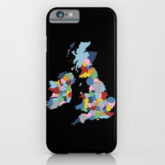 UK on Black iPhone 6s Slim Case
