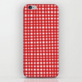 Red Gingham iPhone Skin