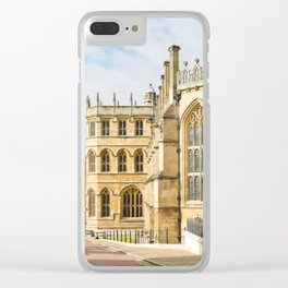 Sunshine on St. George's Chapel at Windsor Castle Clear iPhone Case
