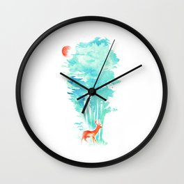Summer in the Woods Wall Clock