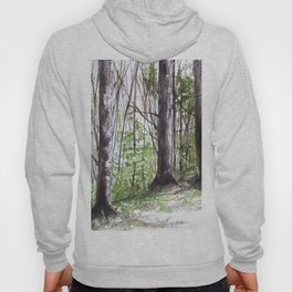 Woodland Trees in Vermont Illustration Nature Art Hoody