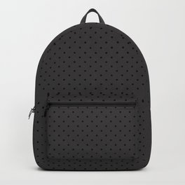 Gothic Small Grey on Black Polka Backpack