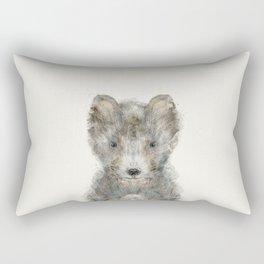 little grey wolf Rectangular Pillow