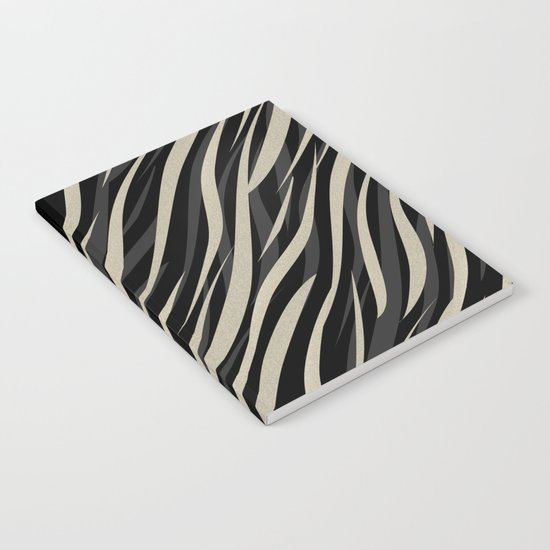 Tiger abstract striped pattern . Notebook