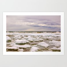 Ice water Art Print