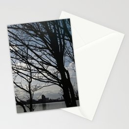 Trees along the River Thames, near Woolwich Stationery Cards