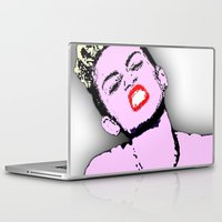 miley cyrus Laptop & iPad Skins featuring Miley Cyrus by D Arnold Designs