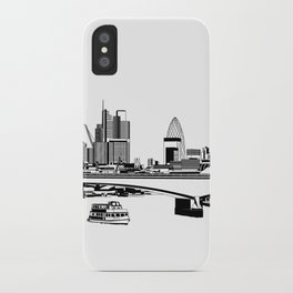 London Black and White iPhone Case