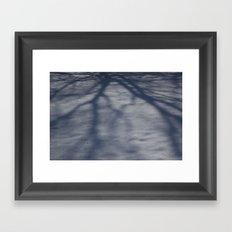 Snowy Shadow Framed Art Print