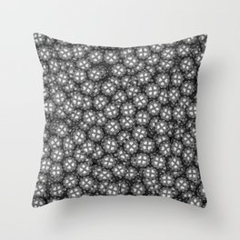 Poker chips B&W / 3D render of thousands of poker chips Throw Pillow