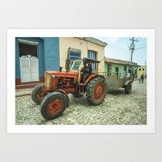 Trinidad tractor Art Print