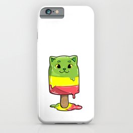 Cat with Popsicles iPhone Case