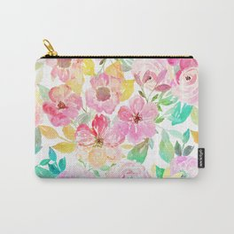 Classy watercolor hand paint floral design Carry-All Pouch