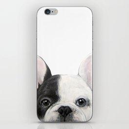 French Bulldog Dog illustration original painting print iPhone Skin
