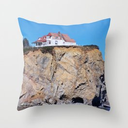 Living at the End of the World Throw Pillow