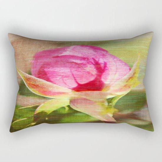 Vintage Rose Bud Rectangular Pillow