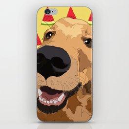Summer Fun - Golden Retriever iPhone Skin