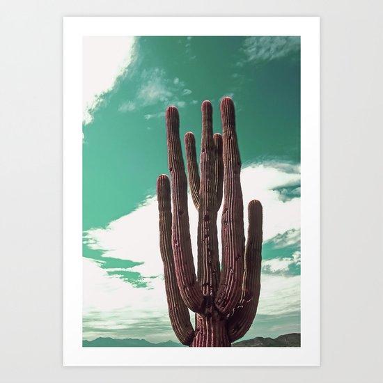 Saguaro Cactus Art Print