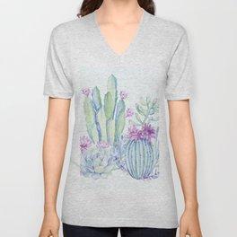 Mixed Cacti Light Blue #society6 #buyart Unisex V-Neck