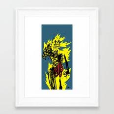 fire zombie Framed Art Print