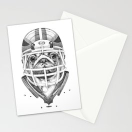 American Pug Football Stationery Cards