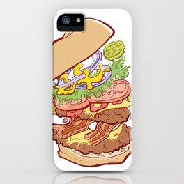 Hamburger Time iPhone Case