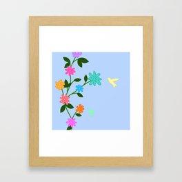 Flowery Day Framed Art Print