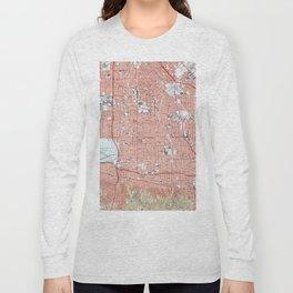 Vintage Map of Van Nuys California (1966) Long Sleeve T-shirt