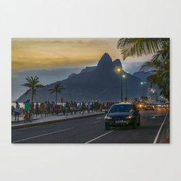 Ipanema Sidewalk Rio de Janeiro Brazil Canvas Print