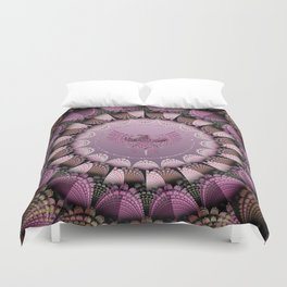 Tribal pattern mandala with an eagle Duvet Cover