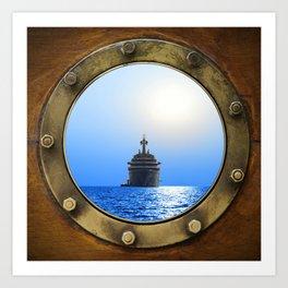 Porthole Art Print
